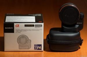 Sony NEX LA-EA2 Box & Case